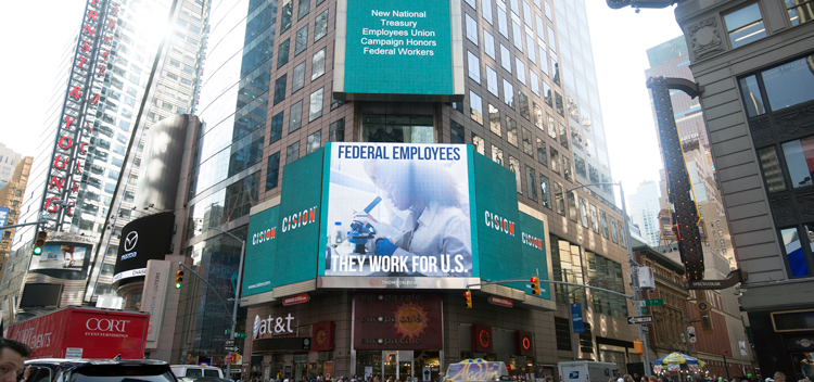 NTEU PSA in Times Square